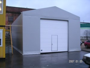 Fire truck insulated garage 8x12x4m, Lithuania, Klaipeda