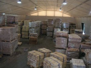 Insulated (double layer) timber storage hall 20x50x4m, Lithuania, Ukmerge